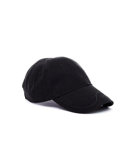 a8927594ff0 Balenciaga Black Bb Mode Cotton Cap in Black - Lyst