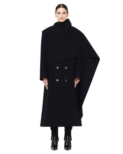 Balenciaga - Black Hybrid Double-breasted Coat - Lyst