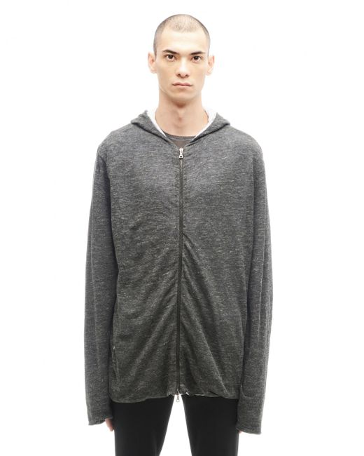 Transit Uomo | Gray Linen And Cotton Hoodie for Men | Lyst