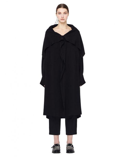 Y's Yohji Yamamoto - Black Cellulose Coat - Lyst
