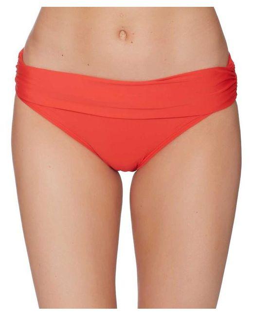 Athena - Red Cabana Solids Lani Banded Bikini Bottom - Lyst
