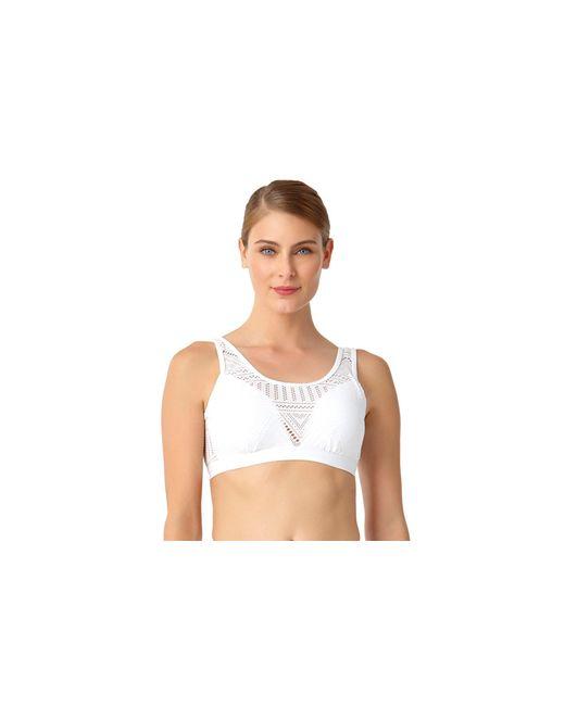 Anne Cole - White Crochet All Day Over The Shoulder Bralette Swim Top - Lyst