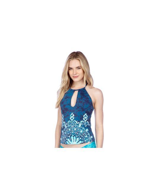 Lucky Brand | Blue Batik Chic High Neck Tankini Swim Top | Lyst