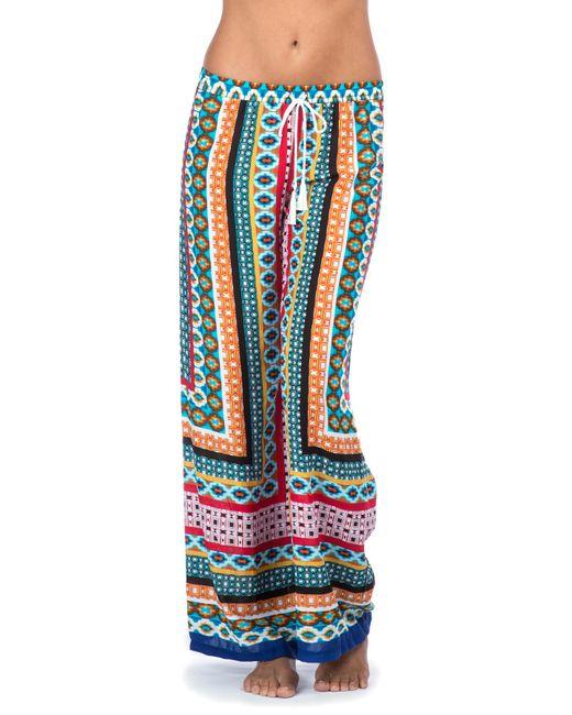 La Blanca | Blue Garden Mosaics Pant Cover Up | Lyst