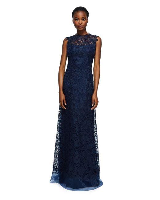 Tadashi Shoji   Blue Milien Evening Gown   Lyst