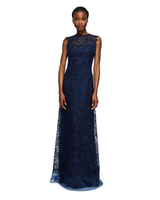 Tadashi Shoji   Blue Milien Evening Gown - Petite   Lyst