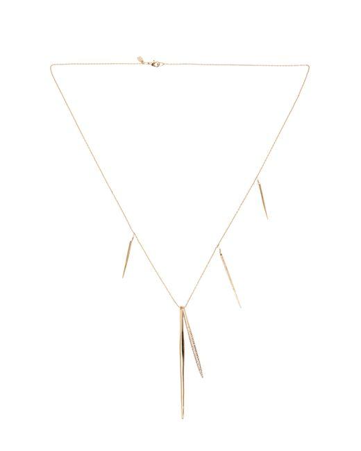 Tadashi Shoji | Metallic Crystal Encrusted Long Spear Necklace | Lyst