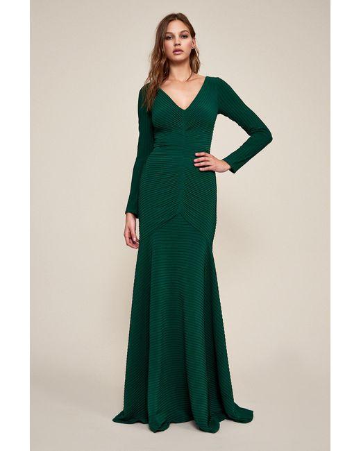 Tadashi Shoji - Green Elias Long-sleeve Pintuck Gown - Petite - Lyst ... e9faf2d77