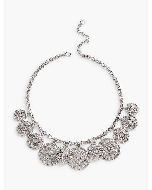 Talbots | Metallic Filigree-drop Necklace | Lyst