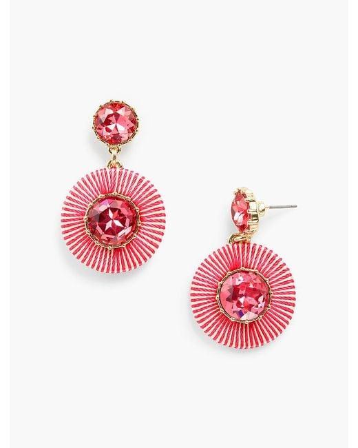 Talbots - Multicolor Thread-wrap Circle Earrings - Lyst