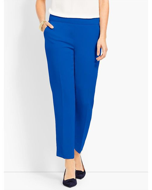 Talbots - Blue Seasonless Crepe Slim Ankle Pant - Lyst