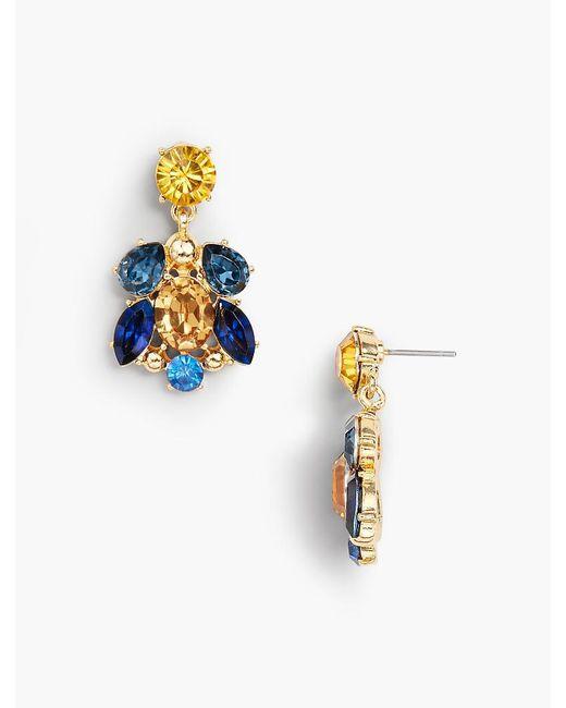 Talbots - Metallic Petite Crystals Earrings - Lyst