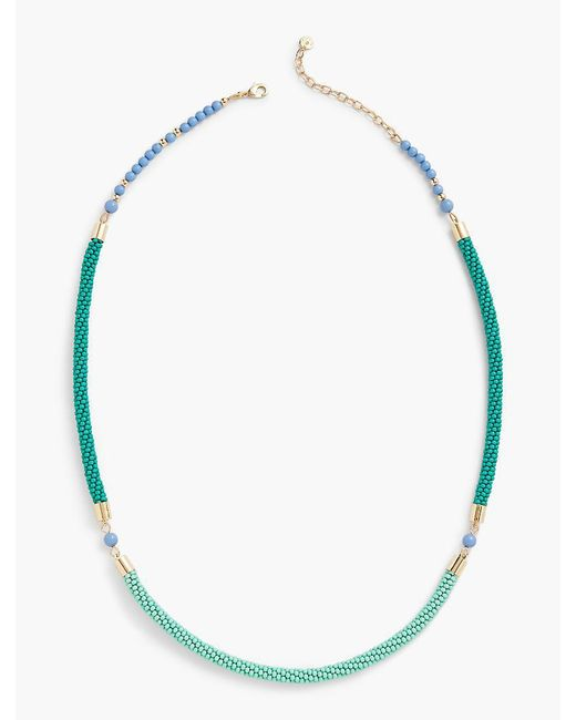 Talbots - Metallic Beaded Layering Necklace - Lyst