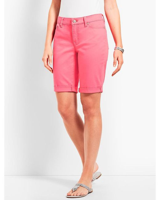 "Talbots - Pink 9"" Girlfriend Jean Short - Lyst"