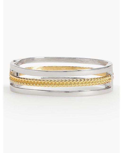 Talbots   Metallic Mixed-braid Bangle Bracelet   Lyst