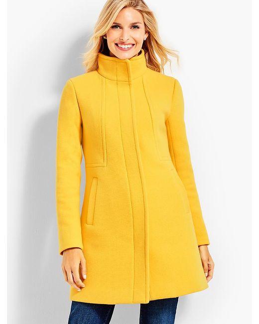 Talbots | Yellow Stand-collar Coat | Lyst