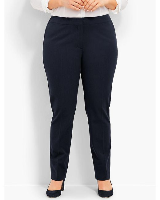 Talbots - Blue Plus Size Exclusive Refined Bi-stretch Tailored Straight-leg - Curvy Fit - Lyst