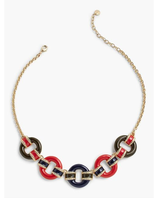 Talbots | Multicolor Military-inspired Stripes & Ring Necklace | Lyst