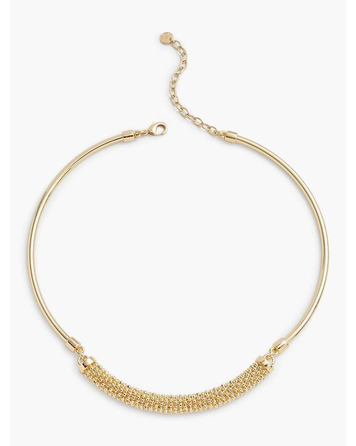 Talbots | Metallic Textured Collar Necklace | Lyst