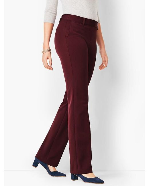Talbots - Red Refined Bi-stretch Barely Boot Pant - Curvy Fit - Lyst
