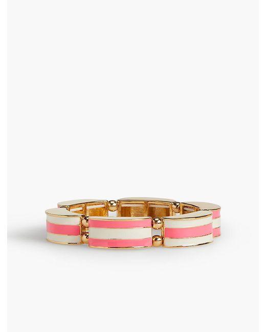 Talbots | Pink Striped Enamel Stretch Bangle | Lyst