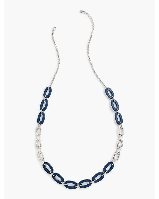 Talbots   Metallic Colorblocked Rings & Chain-link Necklace   Lyst