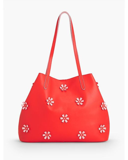 Talbots - Red Plano All-over Flower Tote - Lyst