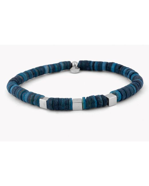 Tateossian - Blue Seychelles Beaded Bracelet for Men - Lyst