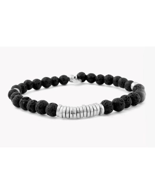 Tateossian | Black Disc Round Beaded Bracelet for Men | Lyst
