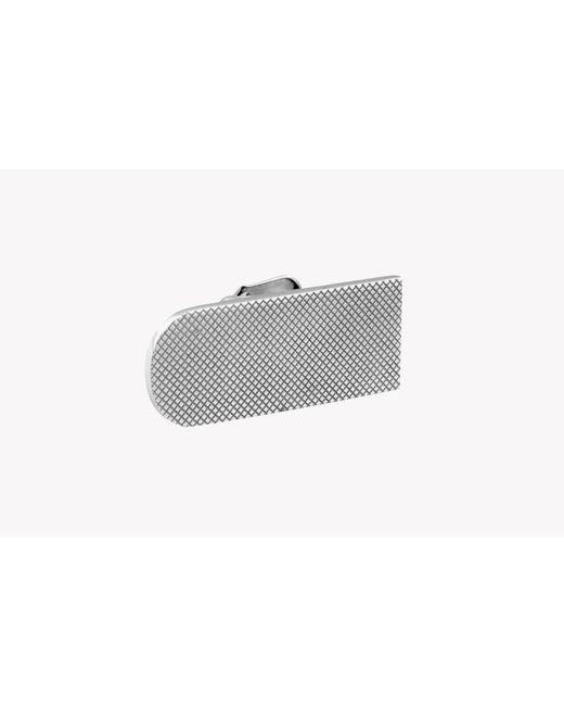 Tateossian   Gray Diamond Pattern Wide Tie Clip for Men   Lyst