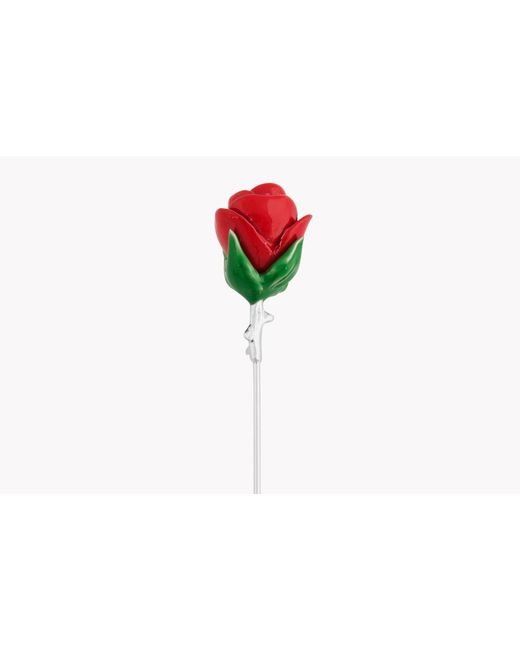 Tateossian | Multicolor Rose Lapel Pin In Red | Lyst