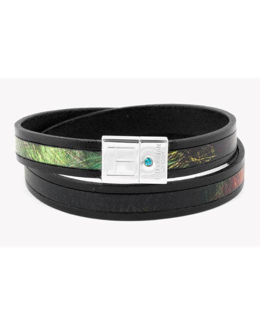 Tateossian | Multicolor Amazonian Slide Silver Bracelet In Green for Men | Lyst