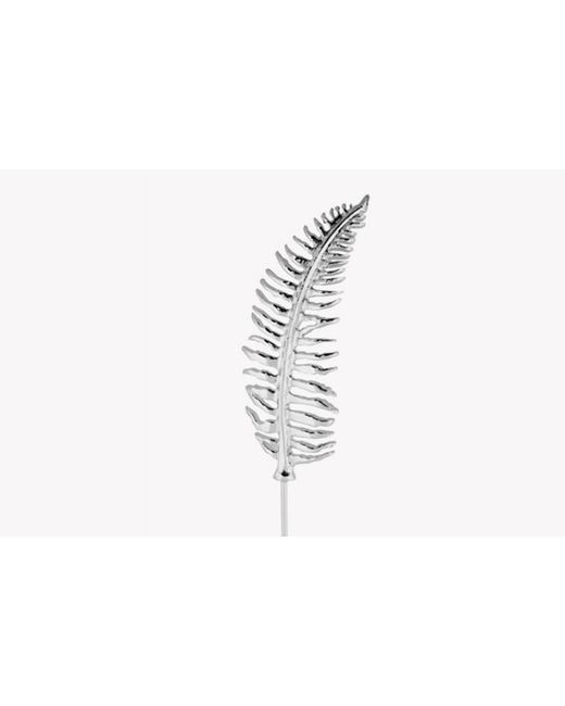 Tateossian | Metallic Fern Lapel Pin In Silver Colour | Lyst