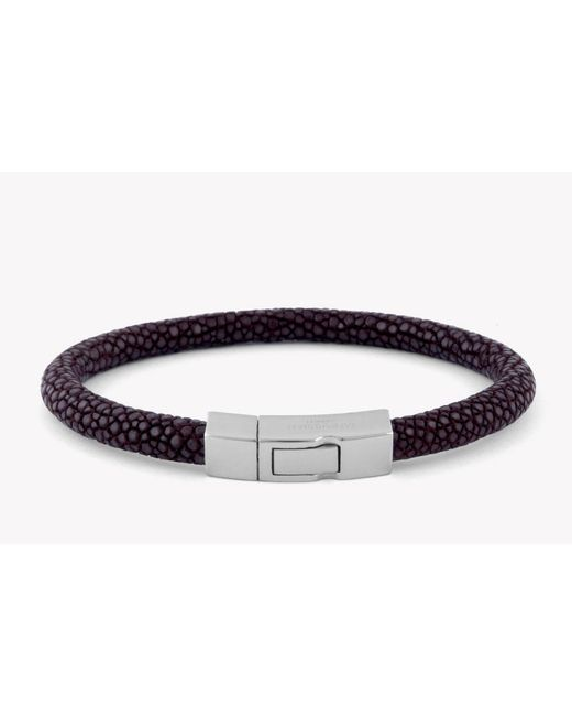 Tateossian | Brown Galuchat Bracelet In Stingray Skin for Men | Lyst