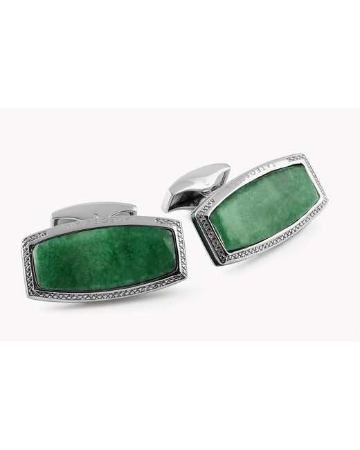 Tateossian | Green Stones Of The World - Rectangular Silver Variscite (limited Edition - 1 Pair) | Lyst