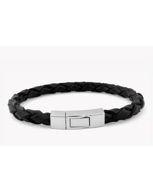 Tateossian - Black Single Wrap Click Scoubidou for Men - Lyst