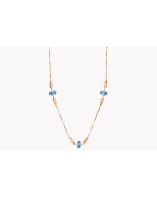 Tateossian - 18k Rose Gold Teardrop Necklace With London Blue Topaz - 10.15 Ct for Men - Lyst