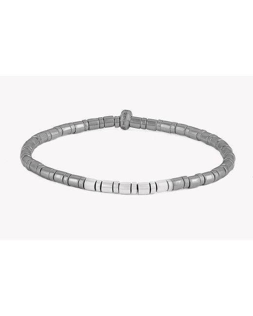 Tateossian | Gray Bamboo Silver Bracelet for Men | Lyst