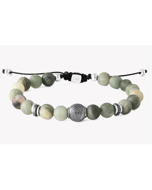 Tateossian - Green Macrame Stratus Silver Bracelet for Men - Lyst