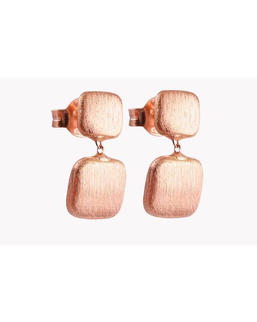 Tateossian   Multicolor 14k Rose Gold Belgravia Cushion Earrings   Lyst