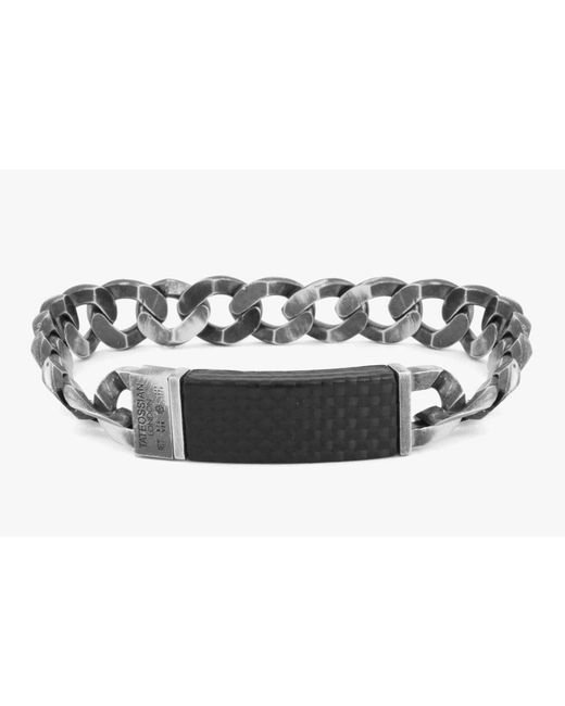 Tateossian - Multicolor Carbon Id Grumette Bracelet for Men - Lyst