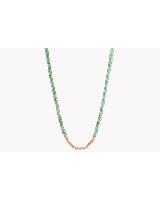 Tateossian | Metallic Bamboo Emerald 18k Gold Necklace | Lyst