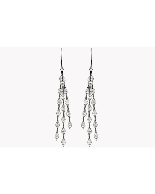 Tateossian | Metallic Liquid Diamonds Ruthenium Plated Silver Earrings | Lyst