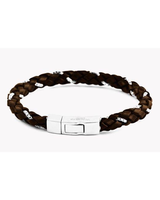 Tateossian | Brown Click Scoubidou Weave Bracelet for Men | Lyst