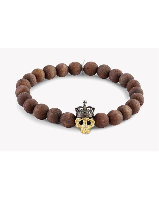 Tateossian - Brown King Skull Bracelet for Men - Lyst