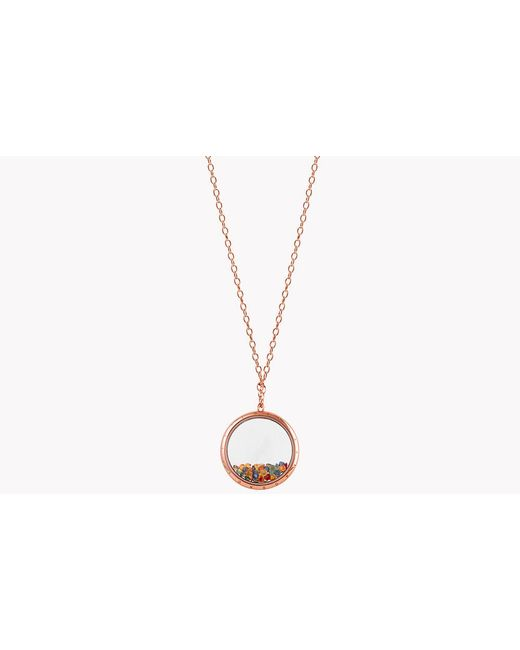 Tateossian - Metallic Rolling Gems Necklace With Multi-coloured Sapphires - Lyst