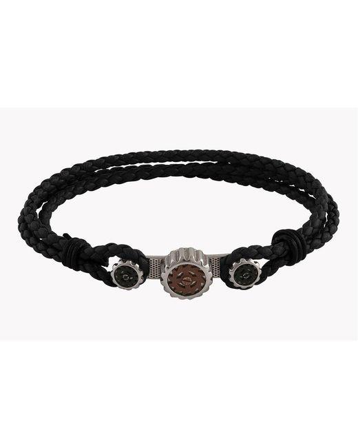 Tateossian - Black Tryptich Silver Bracelets - Lyst