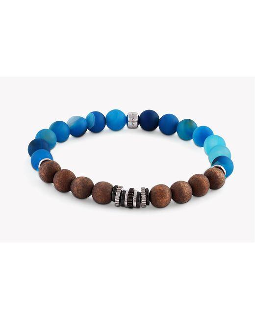 Tateossian - Blue Java Frost Silver Bracelet for Men - Lyst