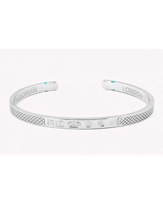 Tateossian | Metallic Limited Edition Silver Hallmark Bangle for Men | Lyst