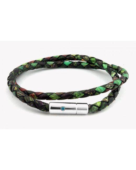 Tateossian | Pop Print Scoubidou Silver Bracelet In Green for Men | Lyst